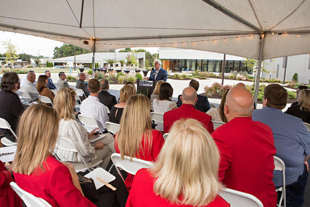 Caption: Jonesboro business leaders attend an exclusive networking event hosted by Ritter Communications held Tuesday in celebration of the one-year anniversary of the Ritter Communications $8 million Data Technology Center, the region's first and only top-tier data center.