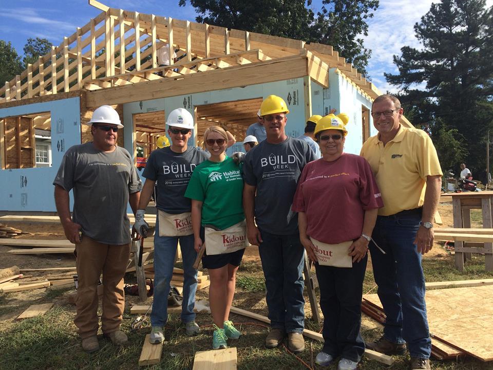 Habitat for Humanity of Greater Jonesboro Build Week 2016